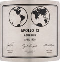 Explorers:Space Exploration, Apollo 13 Aquarius Moon Plaque Movie Prop. ...