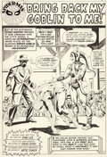 Original Comic Art:Splash Pages, Steve Ditko Amazing Spider-Man #27 Splash Page 1 Original Art (Marvel, 1965)....
