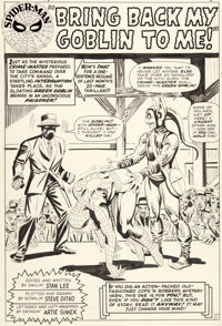Steve Ditko Amazing Spider-Man #27 Splash Page 1 Original Art (Marvel, 1965)