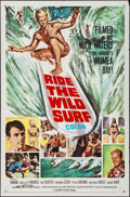 "Movie Posters:Sports, Ride the Wild Surf (Columbia, 1964). One Sheet (27"" X 41"") & Pressbook (10 Pages, 11"" X 17""). Sports.. ... (Total: 2 Items)"