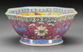 Asian:Chinese, A Chinese Enameled Porcelain Bowl . Marks: (character marks tounderside). 3-1/2 inches high x 7-5/8 inches diameter (8.9 x ...