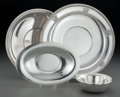 Silver Holloware, American:Plates, Four American Silver Serving Dishes, 20th century. Makersincluding Tiffany & Co, Gorham, and others . 11 inchesdiamete... (Total: 4 Items)