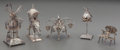 Silver Holloware, Continental:Holloware, Five Silver Miniature Table Articles, 19th-20th century. Marks towindmill: J.P.H., (sword). Marks to birdhouse: (clover...(Total: 5 Items)