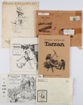 Books:Art & Architecture, [Edgar Rice Burroughs]. Group of Six Burroughs-Related Art Portfolio Sets. New York and elsewhere: 1968-1978.... (Total: 6 )