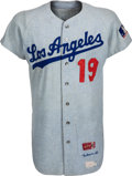Baseball Collectibles:Uniforms, 1969 Jim Gilliam Game Worn Los Angeles Dodgers Coach's Jersey. ...
