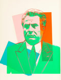 Post-War & Contemporary:Pop, Andy Warhol (1928-1987). John Gotti, 1986. Screenprint with colored paper collage. 31-1/2 x 23-1/2 inches (80 x 59.7 cm)...