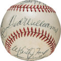 Autographs:Bats, 1960's Hall of Famers Multi-Signed Baseball, PSA/DNA NM+ 7.5. ...