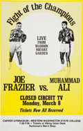 Boxing Collectibles:Memorabilia, 1971 Muhammad Ali vs. Joe Frazier Closed-Circuit Poster....