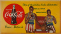 Basketball Collectibles:Others, Early 1950's Harlem Globetrotters Coca Cola Broadside - With Tatumand Haynes. ...