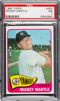 Baseball Cards:Singles (1960-1969), 1965 Topps Mickey Mantle #350 PSA NM 7....