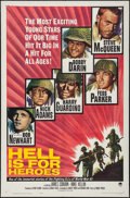 """Movie Posters:War, Hell is for Heroes (Paramount, 1962). One Sheet (27"""" X 41""""). War....."""