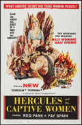 """Movie Posters:Action, Hercules and the Captive Women & Other Lot (Woolner Brothers, 1963). One Sheets (2) (27"""" X 41""""). Action.. ... (Total: 2 Items)"""
