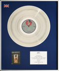 "Music Memorabilia:Awards, Linda Ronstadt -- A BPI Award for the Album ""Living in the U.S.A.""(1979)...."