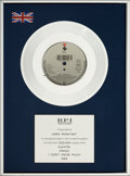 "Music Memorabilia:Awards, Linda Ronstadt -- A BPI Award for the Single ""I Don't Know Much""(1989)...."