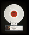 Music Memorabilia:Awards, George Michael Faith RIAA Platinum Album Award (Columbia AL40867, 1987)....