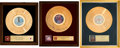 Music Memorabilia:Awards, Linda Ronstadt -- A Group of 'In-House' Gold Record Awards(1980s).... (Total: 3 Items)