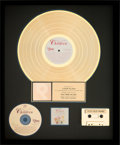 Music Memorabilia:Awards, Elton John - For Our Children RIAA Gold Record Award (Disney60616-2, 1991)....