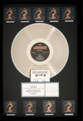 Music Memorabilia:Awards, Def Leppard Hysteria RIAA Multi-Platinum Album Award(Mercury 422 830 675-1 Q1, 1987)....