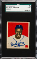 Baseball Cards:Singles (1940-1949), 1949 Bowman Jackie Robinson #50 SGC Authentic. ...