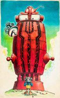 "Original Comic Art:Illustrations, Larry Todd Tales of the Armorkins ""Red Robot"" Illustration Original Art (c. 1972)...."