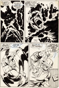 Original Comic Art:Panel Pages, John Buscema and Sal Buscema Captain America #115 Story Page16 Original Art (Marvel, 1969)....
