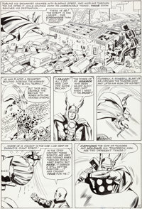 Jack Kirby and George Roussos (as G. Bell) Journey Into Mystery #101 Story Page 11 Thor Original Art (Marvel, 1964