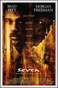 """Movie Posters:Crime, Seven (New Line, 1995). One Sheets (2) (27"""" X 41"""") SS Advance &Regular Styles. Crime.. ... (Total: 2 Items)"""