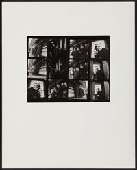 """James Dean by Roy Schatt (Warner Brothers, 1954). Photographer's Proof on Board (Photo: 8"""" X 10"""", Board: 16&qu..."""
