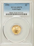Modern Bullion Coins, 1993 $5 Tenth-Ounce Gold Eagle MS70 PCGS....