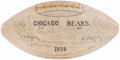 Football Collectibles:Balls, 1936 Chicago Bears Team Signed Football....