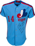 Baseball Collectibles:Uniforms, 1984 Pete Rose Game Worn Signed Montreal Expos Jersey. ...