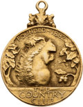 Golf Collectibles:Medals/Jewelry, 1925 R.W. Brown Gold Medal From The Country Club....