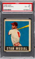 Baseball Cards:Singles (1940-1949), 1948 Leaf Stan Musial #4 PSA EX-MT 6....
