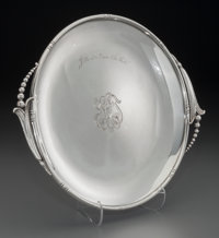 A Woodside Sterling Co. Silver Salver: Jello at a time like this!, New York, New York, circa 19