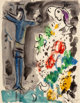 Marc Chagall (1887-1985) Le Christ bleu aux fleurs, circa 1950 Gouache, ink, and pencil on paper 12-1/4 x 9-1/2 inche