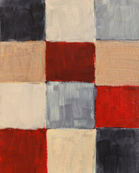 Sean Scully (b. 1945) Barcelona, 1999 Oil on canvas 20 x 16 inches (50.8 x 40.6 cm) Signed, ti