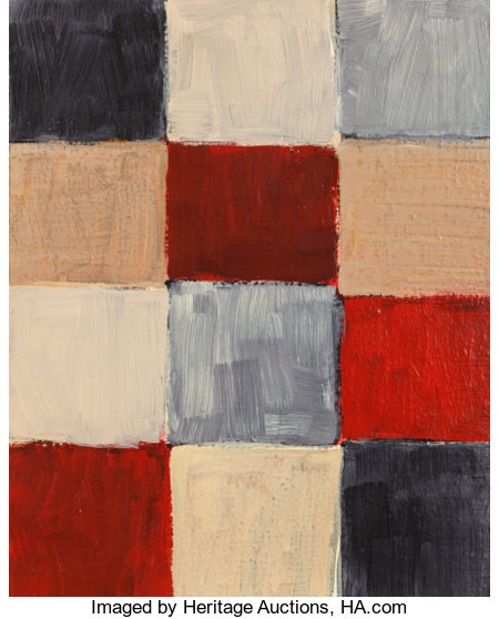 Sean Scully (b. 1945)Barcelona, 1999Oil on canvas20 x 16 inches (50.8 x 40.6 cm)Signed, titled, and dated verso:...