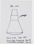 "Explorers:Space Exploration, Max Faget Signed Drawing of Project Mercury's ""Big Joe"" Capsule...."