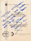 Explorers:Space Exploration, Alan Bean Signed NASA Apollo 12 Lunar Surface OperationsPlan Book. ...