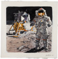 "Explorers:Space Exploration, Jim Butcher Original ""Exploration of the Moon"" Painting. ..."
