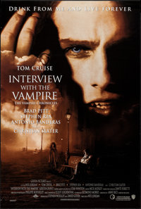 """Interview with the Vampire (Warner Brothers, 1994). One Sheet (27"""" X 40.25"""") DS. Horror"""