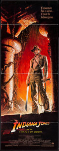 "Movie Posters:Adventure, Indiana Jones and the Temple of Doom (Paramount, 1984). Insert (14""X 36"") & One Sheet (27"" X 40""). Adventure.. ... (Total: 2Items)"