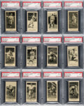 Baseball Cards:Lots, 1916 M101-5 Blank Backs (Sporting News) PSA NM 7 Collection (17 Different). ...
