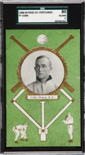 Baseball Cards:Singles (Pre-1930), 1908/09 Rose Company Ty Cobb SGC 80 EX/NM 6 - The Highest GradedExample In The Hobby! ...
