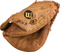 Early 1980's Gary Carter Game Worn Catcher's Mitt from the Gary Carter Collection