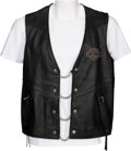 Baseball Collectibles:Others, Circa 2000 Harley Davidson Leather Vest from The Gary CarterCollection....