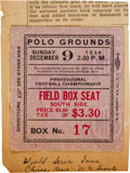 Football Collectibles:Tickets, 1934 NFL Championship Game Ticket Stub from The Joe Carr Find....