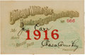 Football Collectibles:Others, 1916 Joe Carr Chicago White Sox Season Pass Also from The Joe Carr Find. ...