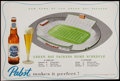 Football Collectibles:Others, 1957 Green Bay Packers New City Stadium (Lambeau Field) Pabst Beer Placemat. ...