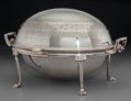 Silver Holloware, British:Holloware, A James Dixon & Sons Silver-Plated Covered Chafing Dish,Sheffield, England, late 19th-early 20th century. Marks: (EP),(JD&...
